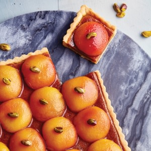 Peach & Pistachio Tart