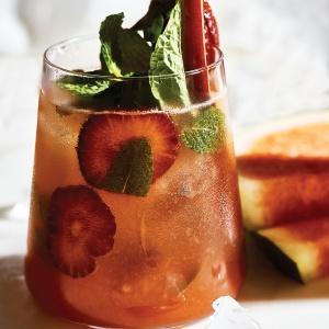 Strawberry & Rhubarb Mojito